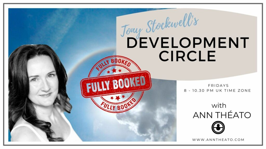 Development Circle - Tony Stockwell's Soul Space - 8 weeks from November 5th, 8 pm-10.30 pm GMT/3pm-5.30 pm EST