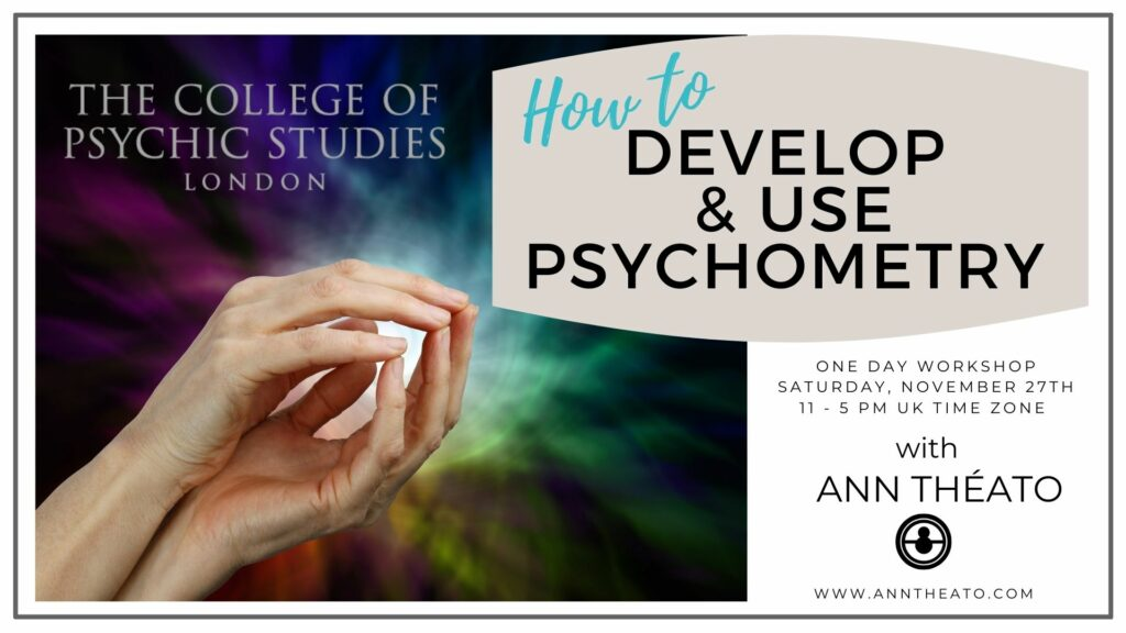 How To Develop & Use Psychometry - Saturday 27th November 2021, 10 am - 5 pm GMT